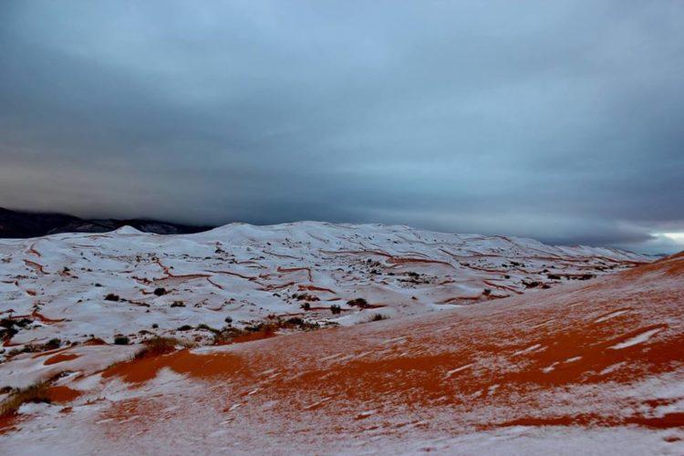 la neige à Aïn Sefra