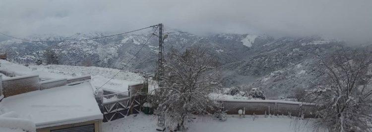 Aïn El Hammam Tizi Ouzou en neige