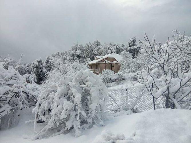 la neige a Yakouren 2017