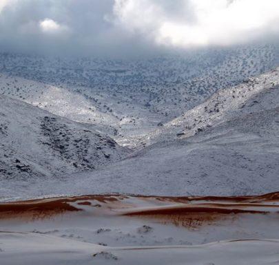La neige dans la ville de Aïn Sefra